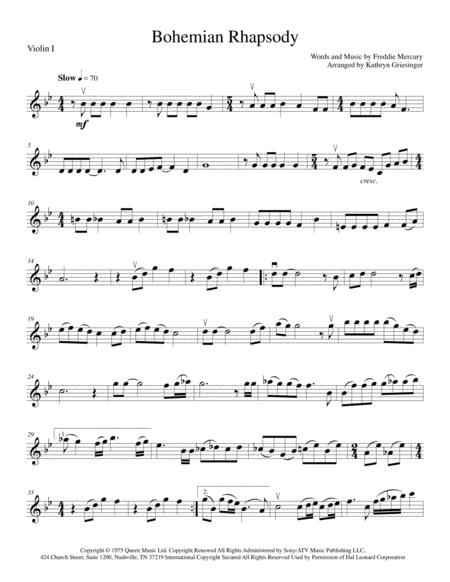 Bohemian Rhapsody - String Quartet or Quintet