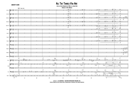 All The Things You Are (arranged for Big Band)
