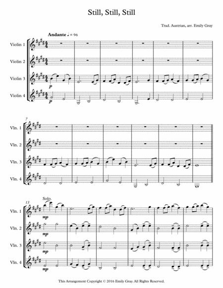 Still, Still, Still (4 Violins)