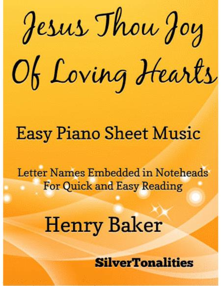 Jesus Thou Joy of Loving Hearts Easy Piano Sheet Music