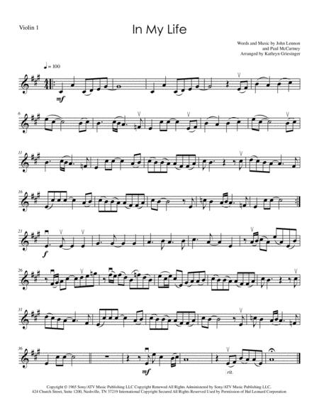 In My Life (Beatles) String Quartet