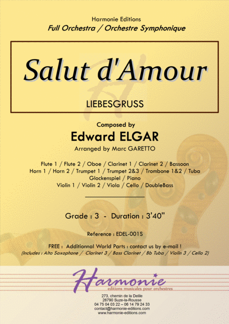Salut d'Amour -LiebesGruss - EDWARD ELGAR - Full Orchestra Arrangement by Marc GARETTO