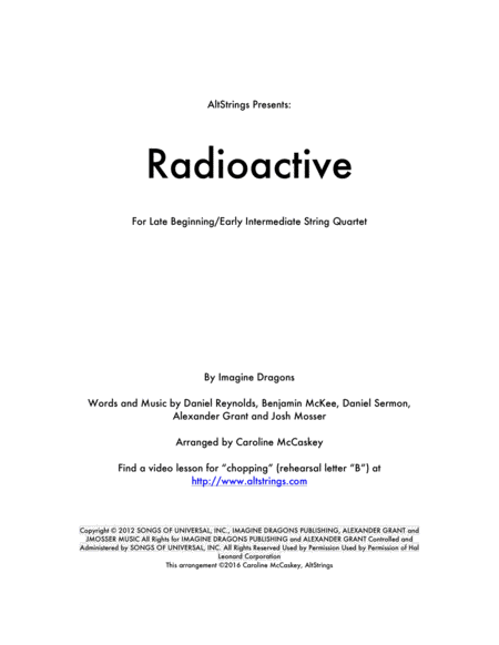Radioactive - String Quartet
