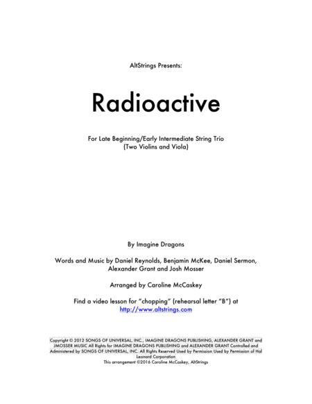 Radioactive - String Trio (Two Violins and Viola)