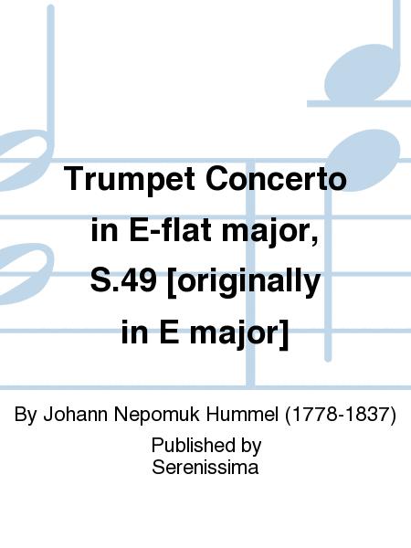 Trumpet Concerto: Part(s) (Kalmus Edition) Johann Nepomuk Hummel