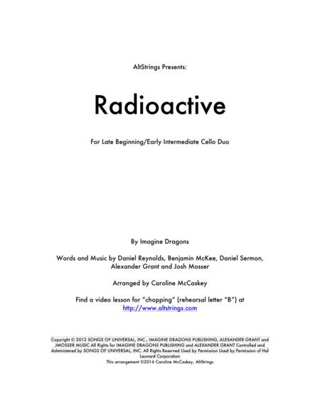 Radioactive - Cello Duet