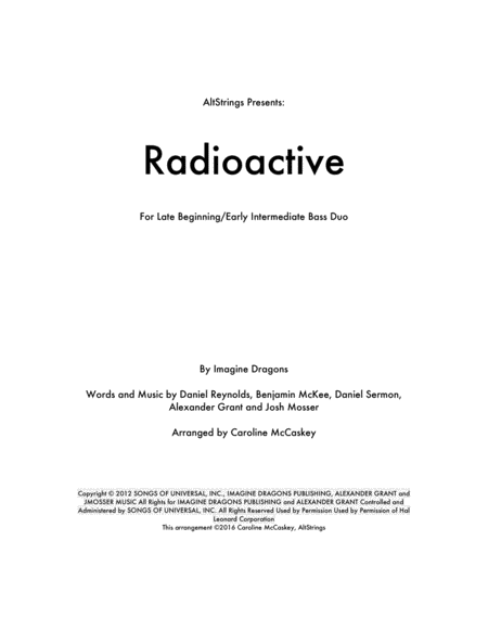 Radioactive - Double Bass Duet