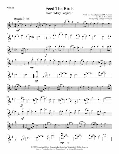 Feed The Birds (Mary Poppins) String Quartet