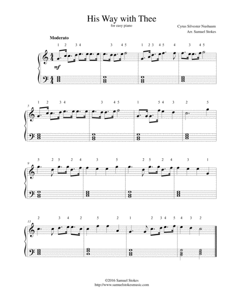 His Way with Thee - for easy piano