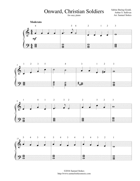 Onward, Christian Soldiers - for easy piano