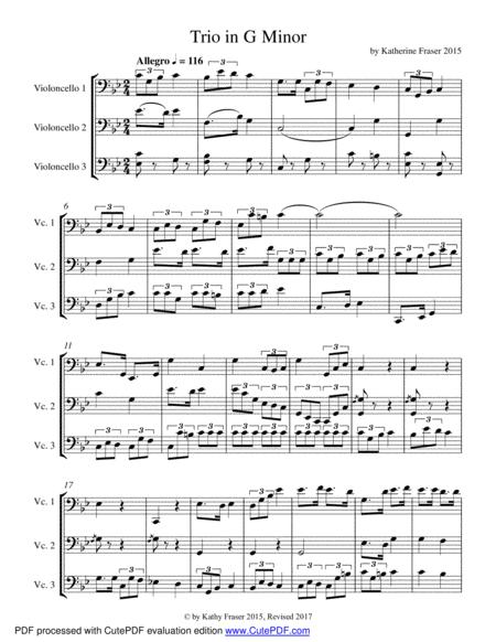 Trio in G Minor for Three Cellos