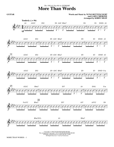 More Than Words - Guitar