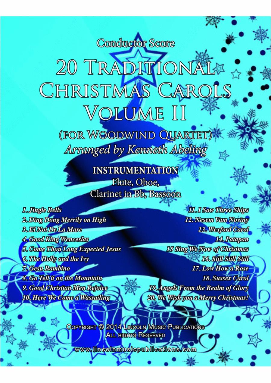20 Traditional Christmas Carols Volume II (for Woodwind Quartet)