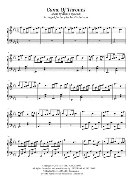 Game Of Thrones - Solo Harp Arrangement