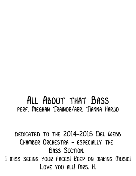 All About That Bass - String Orchestra