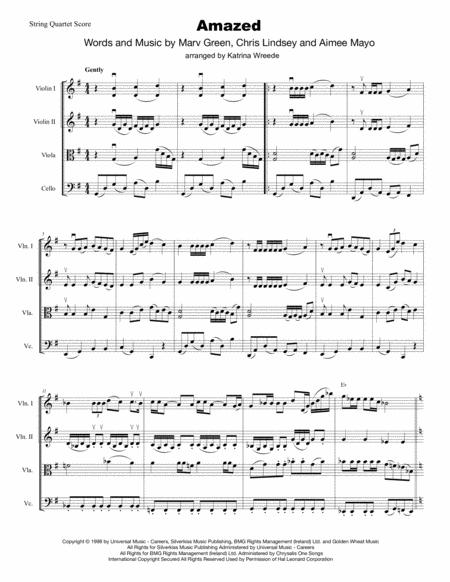 Amazed for String Quartet