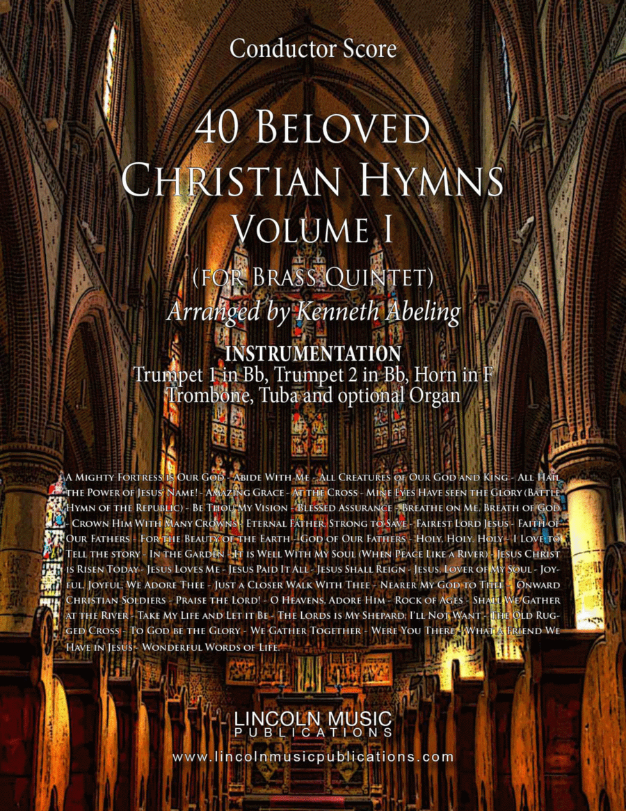 Religious - 40 Beloved Christian Hymns (for Brass Quintet)