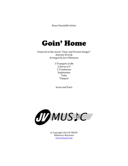 Goin' Home by Antonin Dvorak for Brass Ensemble