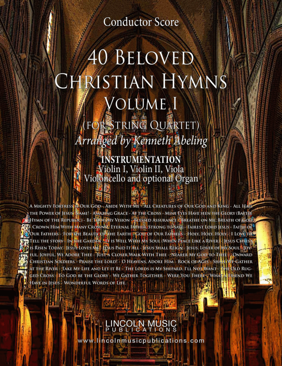 Religious - 40 Beloved Christian Hymns (for String Quartet)