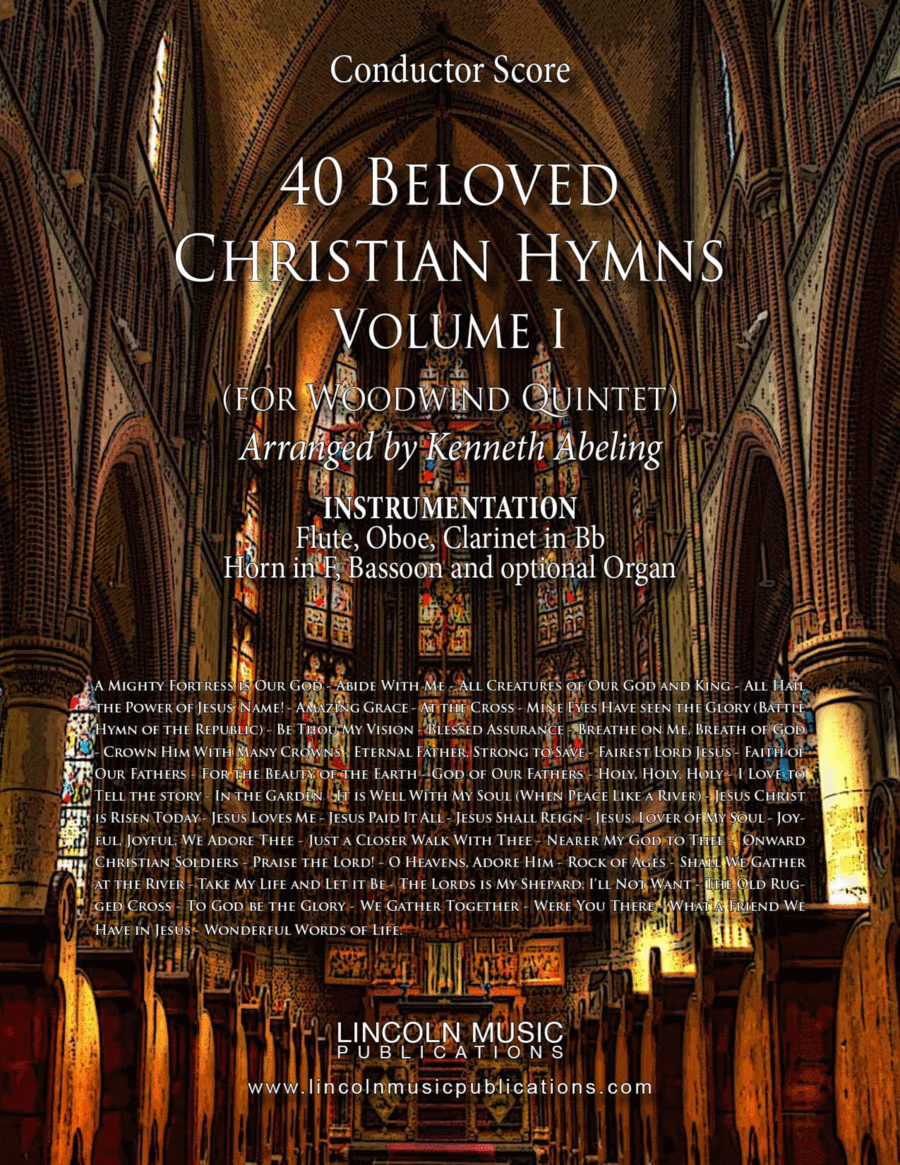 Religious - 40 Beloved Christian Hymns (for Woodwind Quintet)