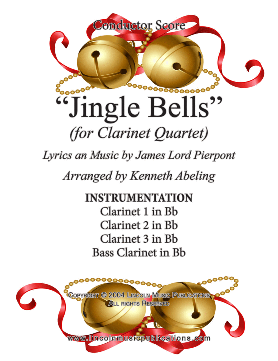 Jazz Christmas Song - Jingle Bells (for Clarinet Quartet)