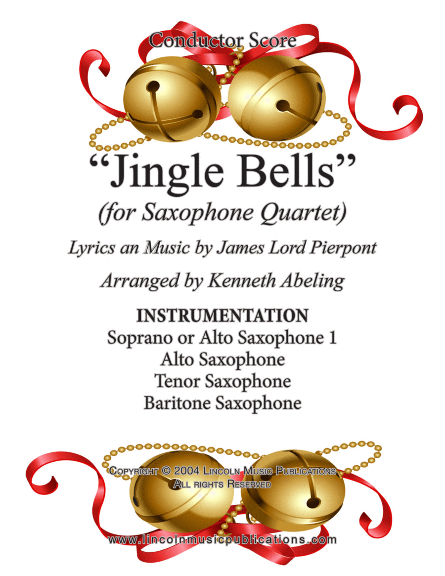 Jazz Christmas Song - Jingle Bells (for Saxophone Quartet SATB or AATB)