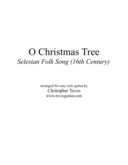 O Christmas Tree, easy fingerstyle guitar with tab