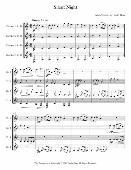 Silent Night (4 Clarinets)