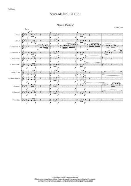 Mozart: Serenade No 10 in Bb