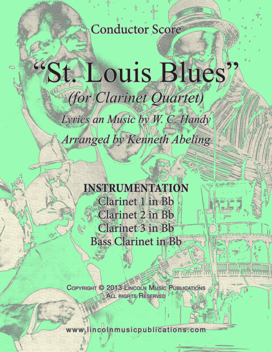 Dixieland – St. Louis Blues (for Clarinet Quartet)