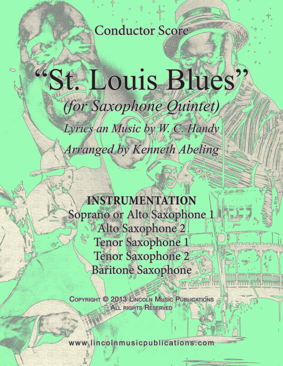 Dixieland – St. Louis Blues (for Saxophone Quintet SATTB or AATTB)