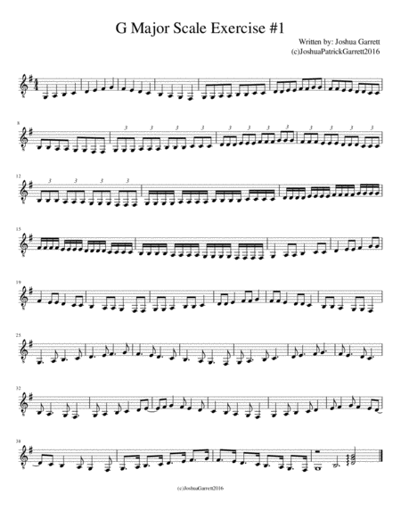 G Major Scale Exercise #1