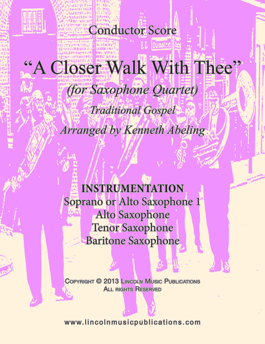 Dixieland – A Closer Walk With Thee (for Saxophone Quartet SATB or AATB)