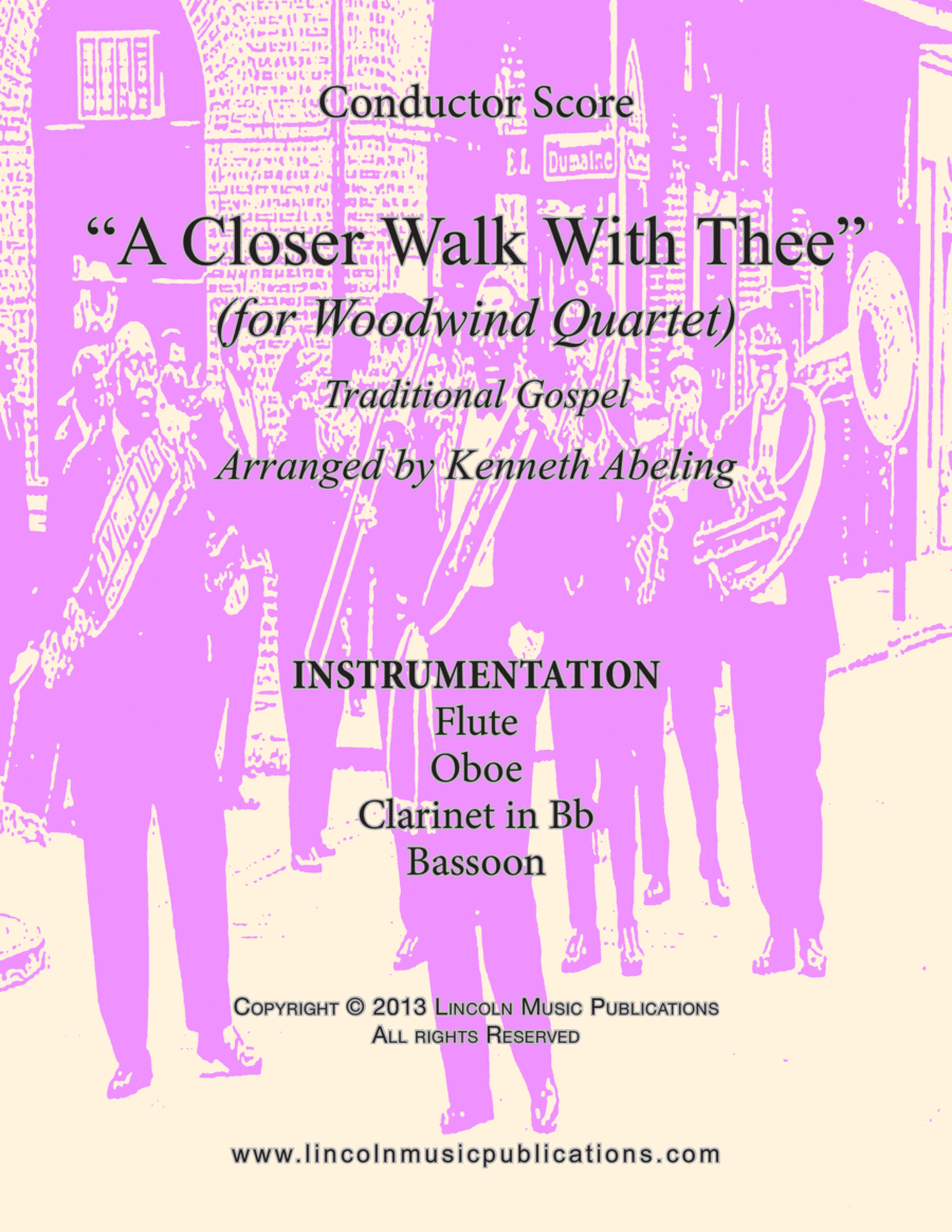 Dixieland – A Closer Walk With Thee (for Woodwind Quartet)