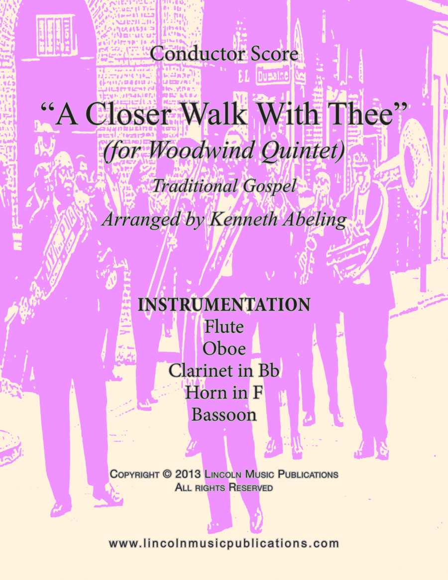 Dixieland – A Closer Walk With Thee (for Woodwind Quintet)