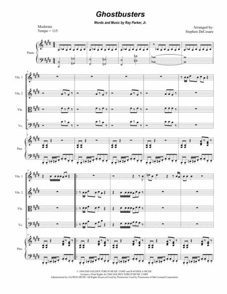 Ghostbusters (for String Quartet)