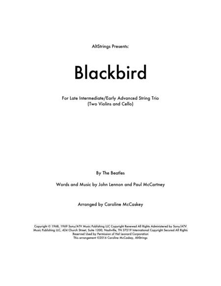 Blackbird - String Trio (Two Violins and Cello)