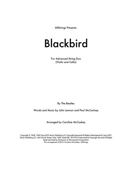 Blackbird - Violin and Cello Duet