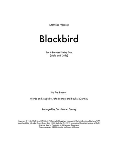 Blackbird - Viola and Cello Duet