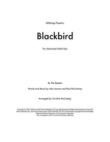Blackbird - Violin Duet