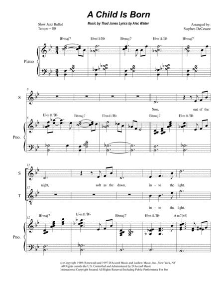 A Child Is Born (Duet for Soprano and Tenor solo)