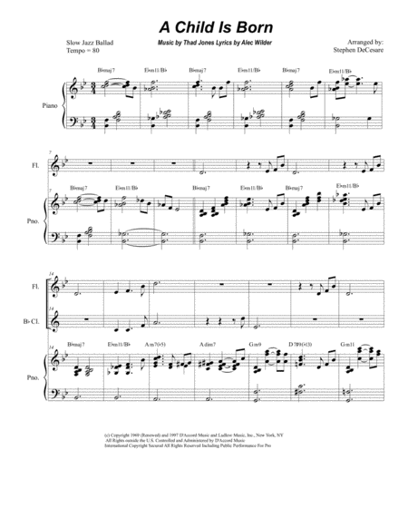 A Child Is Born (Duet for Flute and Bb-Clarinet)