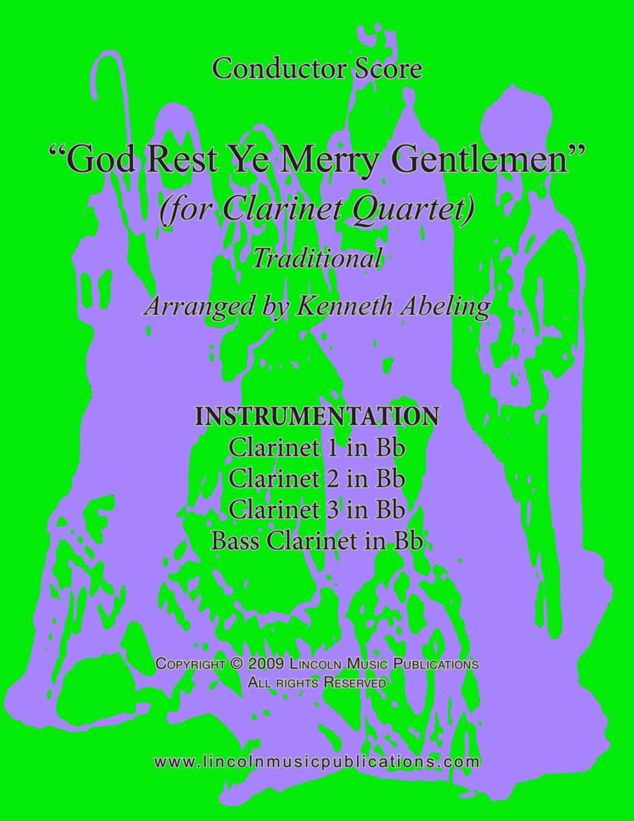 God Rest Ye Merry Gentlemen (for Clarinet Quartet)