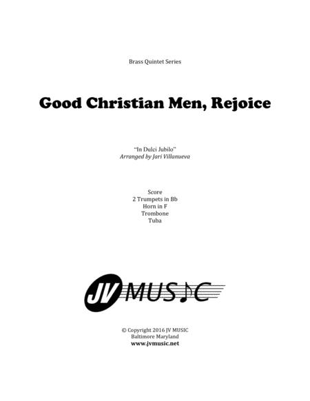 Good Christian Men, Rejoice for Brass Quintet (In Dulci Jubilo)