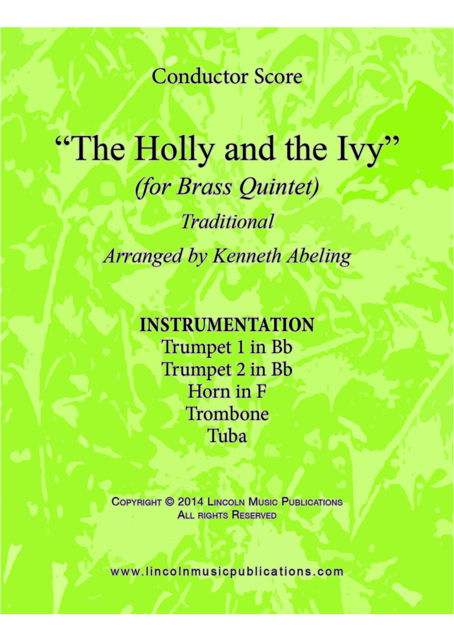 The Holly and the Ivy (for Brass Quintet)