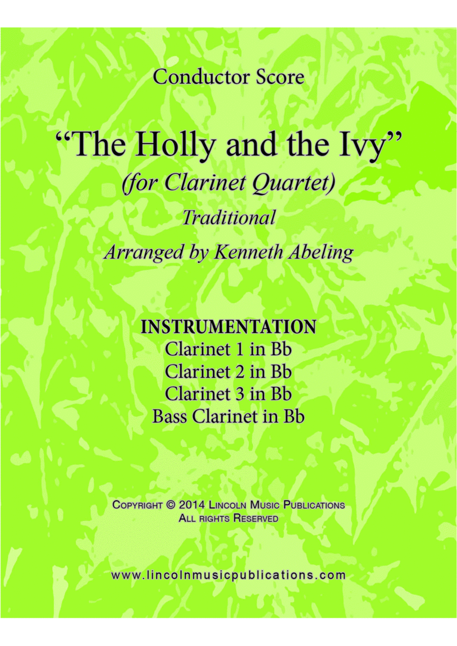 Christmas - The Holy and the Ivy (for Clarinet Quartet)