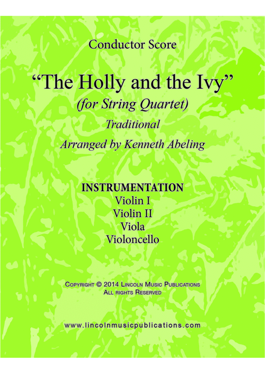 The Holly and the Ivy (for String Quartet)