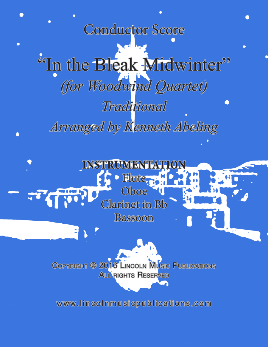 Christmas - In the Bleak Midwinter (for Woodwind Quartet)