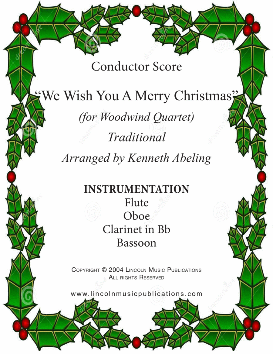 Jazz Carol - We Wish You a Merry Christmas (for Woodwind Quartet)