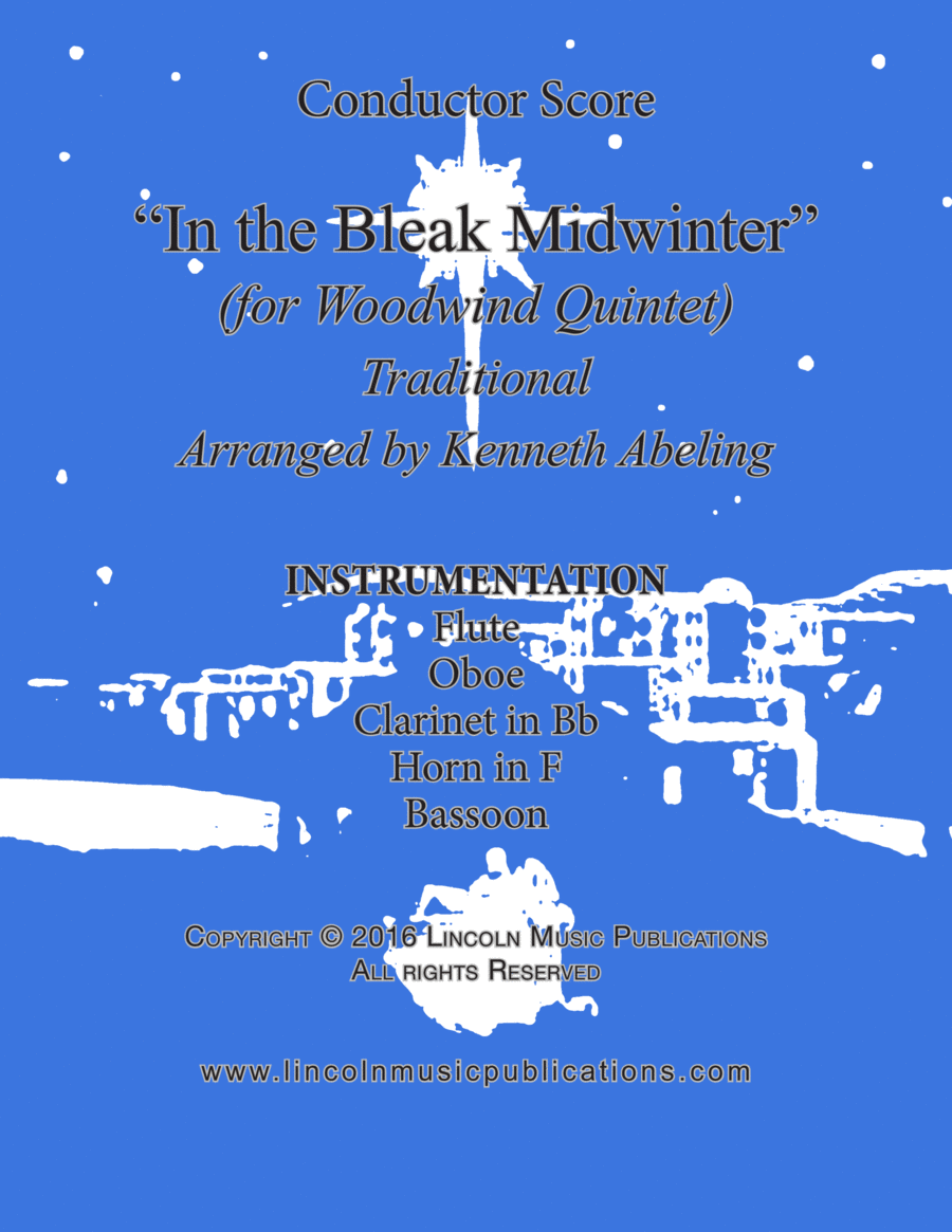 Christmas - In the Bleak Midwinter (for Woodwind Quintet)